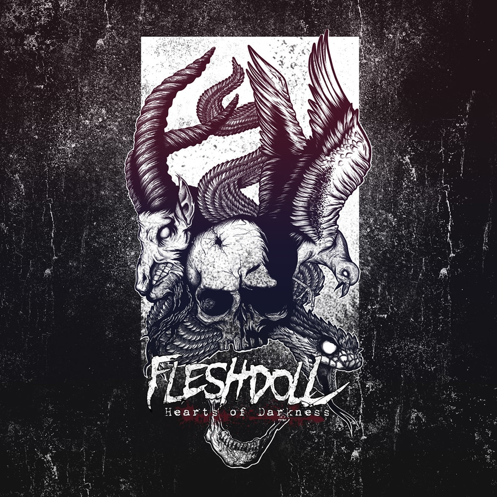 FLESHDOLL - Hearts Of Darkness Great Dane Records (2017) Job done : Recorded Mixed Mastered